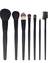 cheap -7pcs Black Makeup Brush Set Blush Brush Eyeshadow Eyeliner Brush Eyelash Brush dyeing Brush Powder Brush Sponge Synthetic Hair