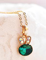 Жен. Ожерелья с подвесками Синтетический изумруд Бижутерия Изумрудный Сплав Мода Euramerican Простой стиль Бижутерия Назначение Свадьба