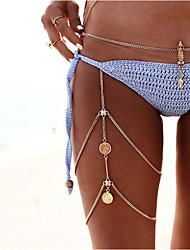 cheap -Women's Tassels Coin Body Chain Fashion  Simple Alloy Jewelry 1pc