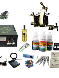 cheap -Tattoo Machine Starter Kit - 1 pcs Tattoo Machines with 1 x 5 ml tattoo inks, Professional LCD power supply Case Not Included 1 damascus