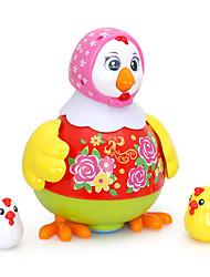 Недорогие -HUILE TOYS Аксессуары для кукольного домика Обучающая игрушка Цыпленок Танцы Электрический Дети