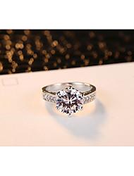 preiswerte -Damen Ring Kubikzirkonia Klassisch Elegant Platin Kreisförmig Modeschmuck Hochzeit Jahrestag Party / Abend Verlobung Alltag