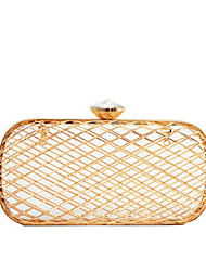 Women Bags All Seasons Metal Evening Bag Metal Chain Sided Hollow Out for Wedding Birthday Event/Party Business Casual Formal Date Party