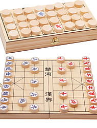 Недорогие -Настольная игра Шахматы Игрушки Натуральное дерево В китайском стиле Куски Мальчики Девочки Подарок
