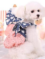 Недорогие -Платья Жилет Одежда для собак Дышащий Стиль Очаровательный На каждый день Принцесса Милая С животными принтами Белый Розовый Костюм Для