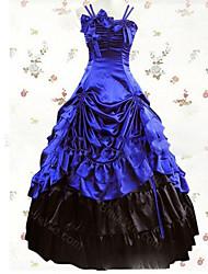 abordables -Vintage Medieval Victoriano Gótico Disfraz Mujer Vestidos Baile de Máscaras Ropa de Fiesta Cosecha Cosplay Other Satín Casquillo Hasta el