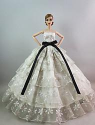 Недорогие -Вечеринка Платья Для Кукла Барби Платья Для Девичий игрушки куклы