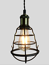 Vintage Black Metal Cage Loft Pendant Lights Living Room Dining Room Hallway Cafe Bars Light Fixture
