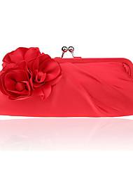 baratos -Mulheres Bolsas Poliéster Bolsa de Ombro Flor para Festa/Eventos Todas as Estações Amêndoa Fúcsia Cinzento Prateado Vinho Ametista
