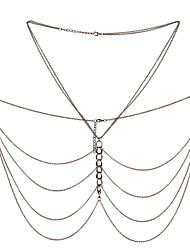 Недорогие -Женский Украшения для тела Цепь Тела / Belly Chain Природа Мода Винтаж Богемия Стиль Ручная работа Турецкий Готика СплавГеометрической