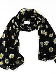 Chiffon Scarves Flower Korea Scarf Shawl Thin Long Rectangle Women's Beach UV Sunscreen Bohemia Retro Print