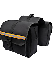 cheap -Motorcycle Saddlebag Set 2 Pcs Storage Bag Tool Bag For Honda/Yamaha/Suzuki (Black/Yellow Color)