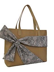 preiswerte -Damen Taschen Kuhfell Umhängetasche Schleife(n) für Normal Alle Jahreszeiten Kamel