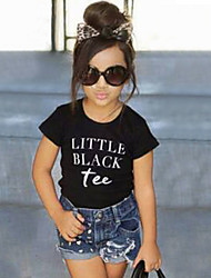 Girls' Fashion Lovely Cotton Short Sleeve Shirt  Denim Shorts Two-Piece Dress