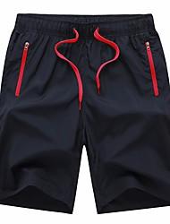 Homme Shorts de Course Séchage rapide Corsaire pour Course Exercice & Fitness Courses Basket-ball Football Térylène Ample Orange Rouge