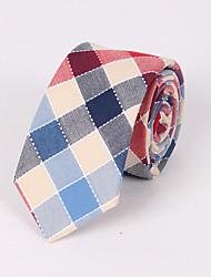 cheap -Men's Cotton Necktie - Check