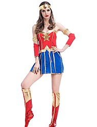 cheap -Super Heroes Magic Women Cosplay Costume Women's Christmas Halloween Carnival New Year Festival / Holiday Halloween Costumes Patchwork