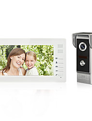 7inch Color Hands Free Video Door phone  Intercom System Doorbell One Monitor with Waterproof Camera