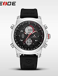 Homens Relógio Esportivo Relógio Elegante Relógio de Moda Relogio digital Japanês Quartzo Digital Alarme Calendário Impermeável Dois