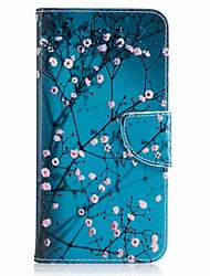 cheap -For Huawei P10 Plus P10 Lite Case Cover Card Holder Wallet with Stand Flip Pattern Case Full Body Case Flower Hard PU Leather