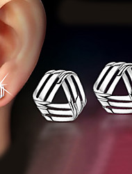 cheap -Women's Stud Earrings - Classic Silver Geometric Earrings For Christmas Gifts / Wedding / Party