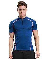preiswerte -Herrn Laufshirt Kurzarm Rasche Trocknung Atmungsaktiv Weich Videokompression Komfortabel T-shirt Oberteile für Camping & Wandern Übung &
