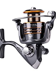 HiUmi Fishing Reels Spinning Freshwater Saltwater with 5.21 Gear Ratio Metal Body Left/right Interchangeable Collapsible Handle Spinning Fishing Reel
