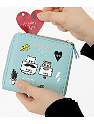 cheap -Women's Bags PU Checkbook Wallet for Casual All Seasons White Cyan Navy Blue