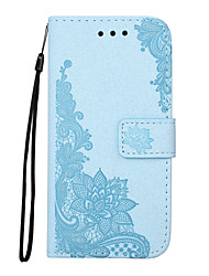 cheap -Case For Samsung Galaxy S7 S7 Edge Case Cover Glittering Process Diagonal Flower Pattern PU Leather Material Card Stent Embossed Phone Case For S6