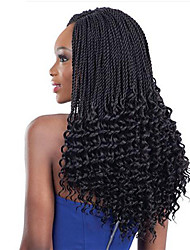 cheap -Freetress Crochet Pre-Twisted Flashy Curl Hair 14inch 34roots Synthetic Kanekalon Curly Braiding Hair Extensions Burgundy Black 6PCS