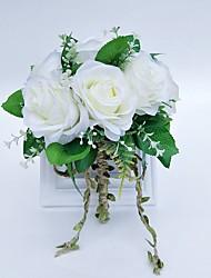 economico -Bouquet sposa Bouquet Matrimonio Tulle / Poliestere 25 cm ca.