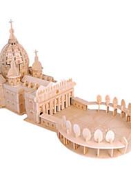 Недорогие -3D пазлы Пазлы Деревянные пазлы Церковь кафедральный собор Своими руками Натуральное дерево Классика Детские Универсальные Игрушки Подарок