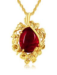 Недорогие -Жен. Ожерелья с подвесками В форме цветка Стразы Сплав В виде подвески Винтаж Pоскошные ювелирные изделия Цветочный принт Бижутерия