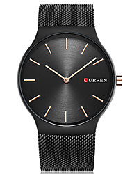 cheap -CURREN Men's Unique Creative Watch Casual Watch Fashion Watch Wrist watch Quartz Large Dial Stainless Steel Band Luxury Casual Elegant
