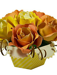 abordables -Puzzles 3D Maquette en Papier Loisirs Créatifs en Papier Kit de Maquette Carré Roses 3D Simulation A Faire Soi-Même Classique Unisexe