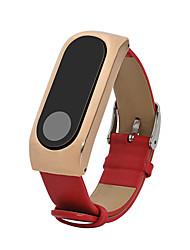 economico -Acciaio inossidabile Vera pelle Cinturino di pelle Per Xiaomi Orologio