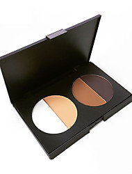 Pro Face Powder Pressed Palette Bronzer Highlighter Matte Foundation Contour 4 Color Nude Facial Base Makeup Cosmetics