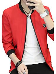 Veste Homme,Couleur Pleine Mode Lettre et chiffreAutre Quotidien Décontracté Vêtements de Plein Air Décontracté / Quotidien Soirée