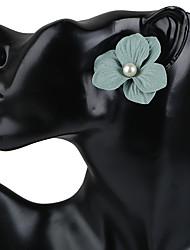 Недорогие -Жен. Серьги-гвоздики Серьги-кольца Серьги Цветочный дизайн Цветы Цветочный принт Мода Богемия Стиль Ручная работа Пластик Искусственный