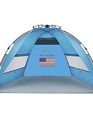Недорогие -2 человека Световой тент Туристическое укрытие Один экземляр Палатка Однокомнатная Автоматический тент Ультрафиолетовая устойчивость