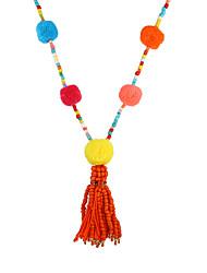 cheap -Women's Luxury Bohemian Strands Necklace - Luxury Unique Design Dangling Style Tassel Bohemian Movie Jewelry Sideways Geometric Rainbow