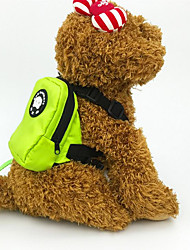 Harnais Laisses Dog Paquet Portable Pliable Sécurité Couleur Pleine Tissu Orange Vert