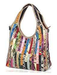cheap -Women's Bags Cowhide Shoulder Bag Split Joint for Casual All Seasons Rainbow