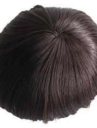parrucca maschile dei capelli umani maschere per il rimontaggio dei capelli umani mono base diritta parrucca maschile vivida media densità