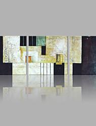 abordables -Peint à la main Abstrait Format Horizontal, Artistique Abstrait Toile Peinture à l'huile Hang-peint Décoration d'intérieur Trois Panneaux