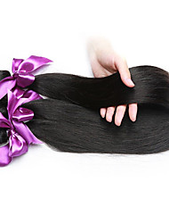 Natural Color Virgin Hair Weaves Indian Siky Straight Unprocessed human hair weaves 3bunldes 8inch to 28inch