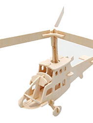 cheap -3D Puzzle Jigsaw Puzzle Wood Model Plane / Aircraft Famous buildings Helicopter DIY Wood Classic Kid's Unisex Gift