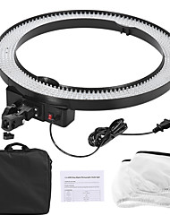 Andoer LA-650D 5500K 40W Ring Digital Photographic Studio Light with 600LED Lights Stepless Adjustment W/ Soft Cloth and Bag