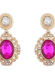 Mulheres Brincos Compridos Imitação de DiamanteBásico Original Pingente Amizade Bijuterias Destaque Durável Estilo simples Sexy EUA