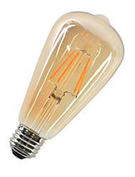 abordables -1pc 4W 360lm E26 / E27 Ampoules à Filament LED ST64 4 Perles LED COB Décorative Blanc Chaud 220-240V